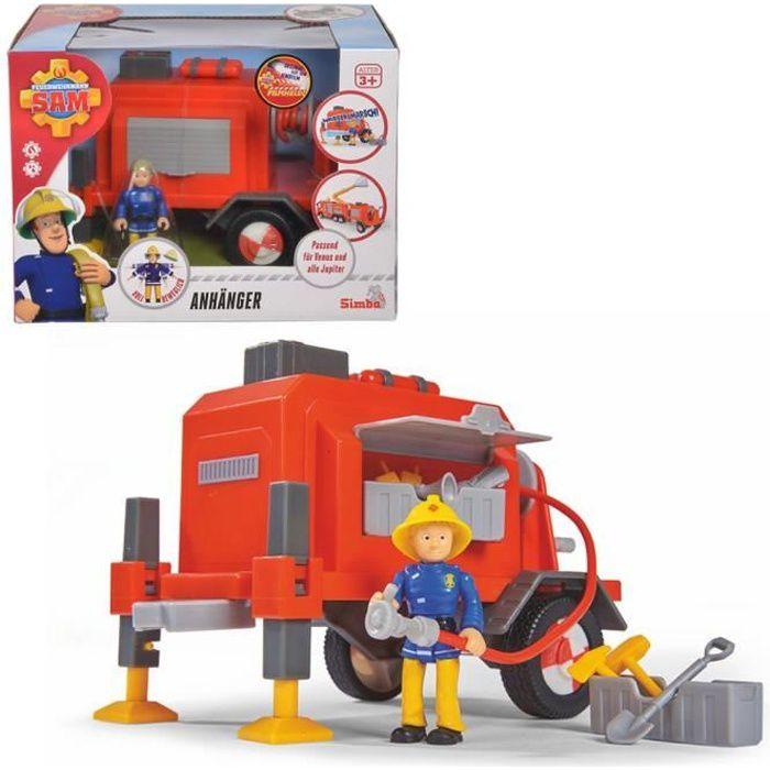 Sam Le Pompier Trailer - avec fonction de pulvérisation d'eau réelle -compatible avec Vénus et Jupiter -Convient aux enfants à