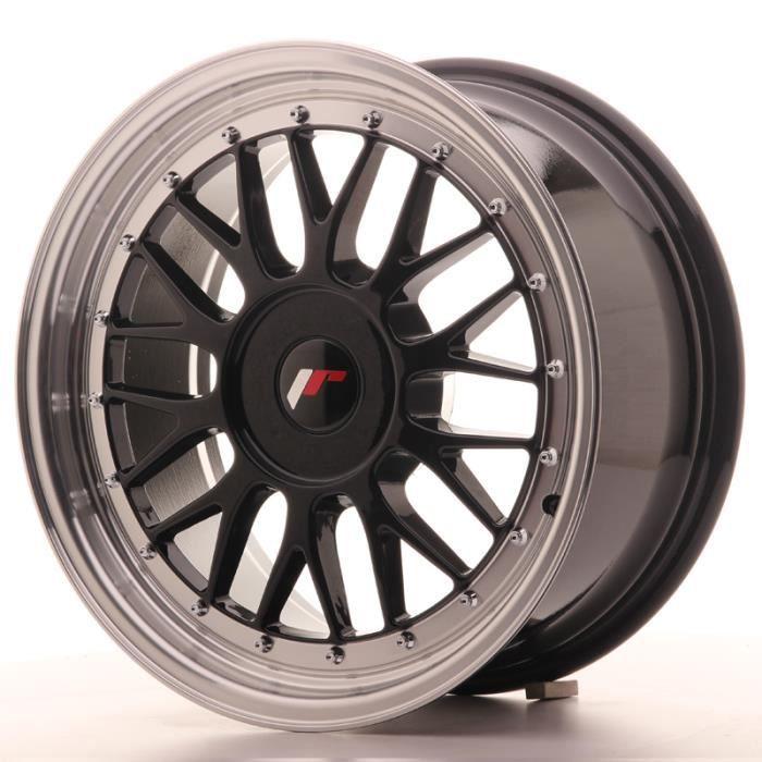 Jante Alu 17- Japan Racing JR23 17x8 ET20-45 Blank Glossy Black