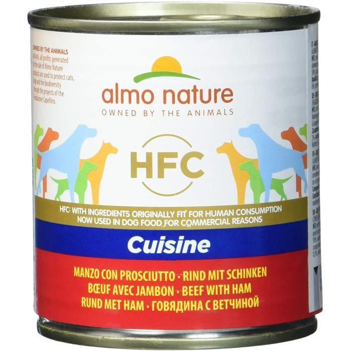 Nourriture pour chiens Almo Nature Classic Nourriture pour Chien Vache avec Jambon (280 g) 36107