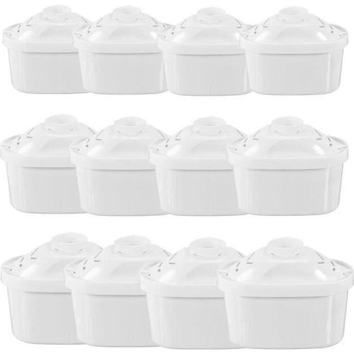 BLEOSAN Cartouche Filtrante pour Carafe Pack 12, Filtres à eau Universel pour Brita Maxtra Carafe Filtrante Bouilloire