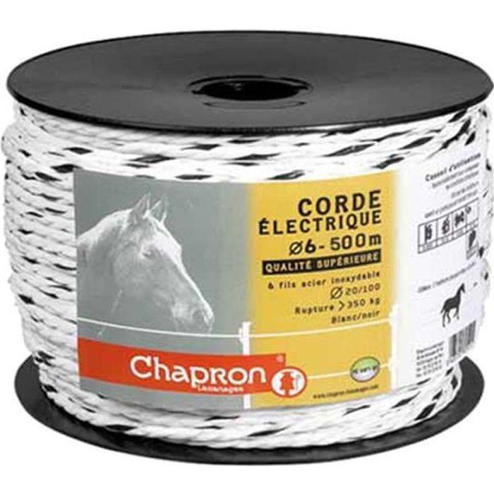 Corde de clôture électrique 6 mm / 500 mètres