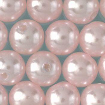 Perles nacrées de diam. 3 mm, Lot de 125 Perles en plastique ciré - abricot
