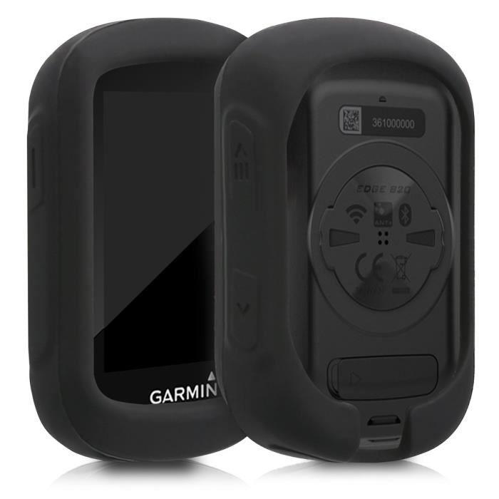 kwmobile Housse GPS vélo - Accessoire pour Garmin Edge 130 - Protection boitier navigateur - Étui en Silicone Noir