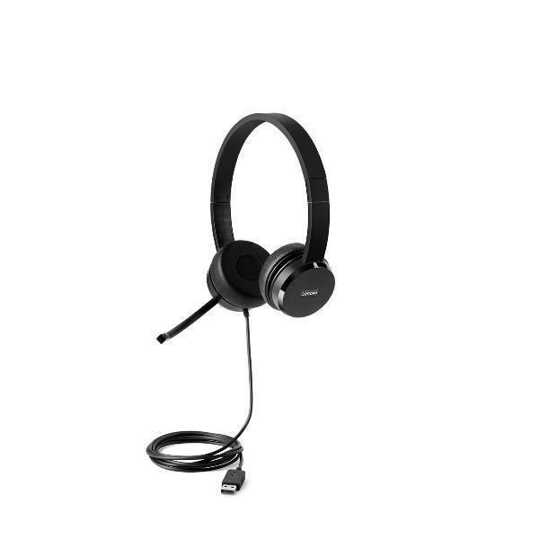 LENOVO Casques-écouteurs - Filaires - Arceau Noir