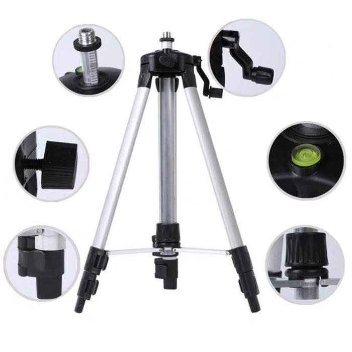 mini laser niveau trépied pour 12 ligne faisceau ligne adaptateur laser support laser en métal aluminium trépied testeur outils