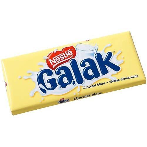 GALAK Chocolat blanc - 2 x 100 g
