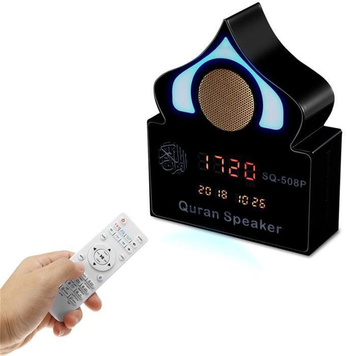NEUFU Enceinte Horloge Bluetooth Azan Ramadan LED Lumière Coran Récitant Islamique FM MP3