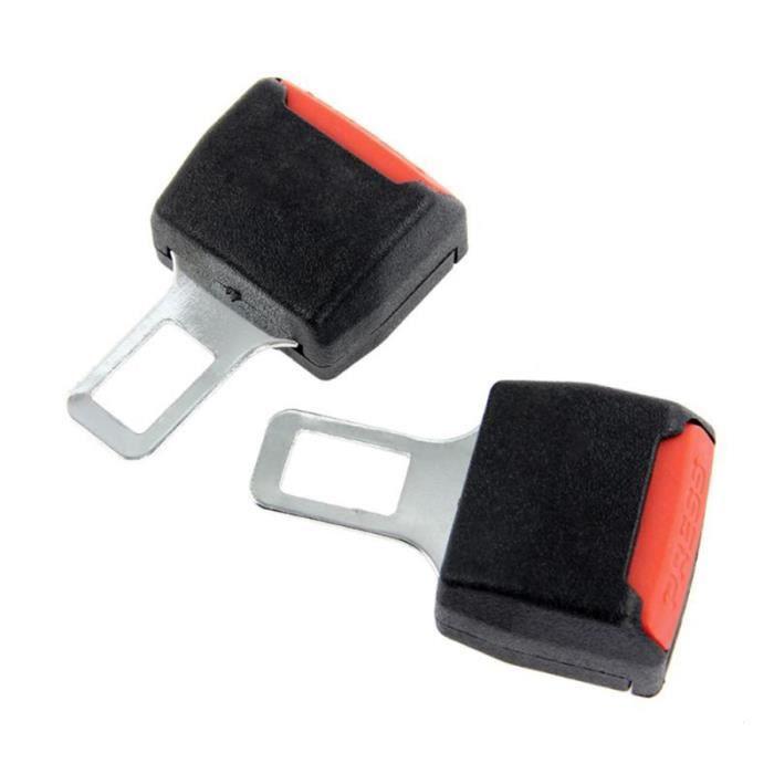 2pcs ceinture de sécurité de voiture universelle de clip extenseur boucle d'extension (noir) CEINTURE - SYSTEME DE CEINTURE