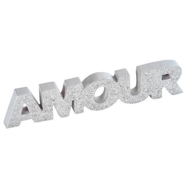 Décoration de table mariage avec lettre argent amour en bois (x1) R/3425