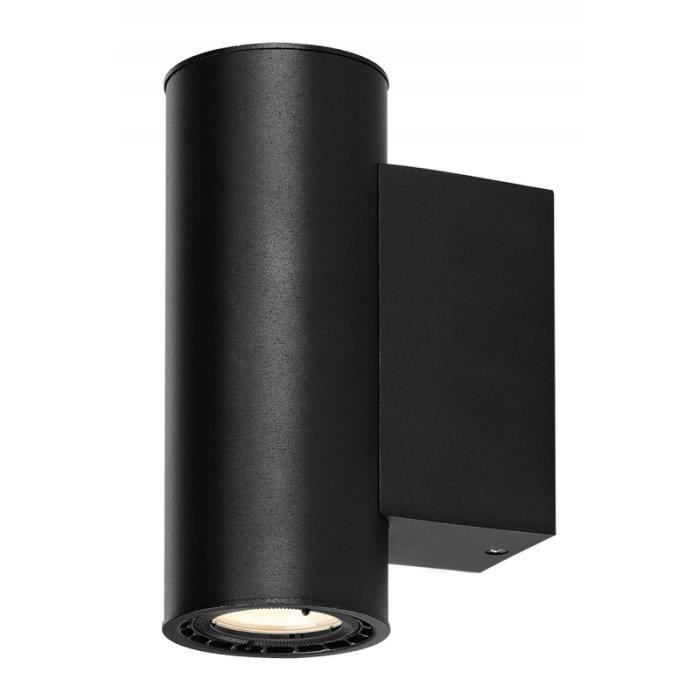 SUPROS 78, applique up down, rond, noir, 3000K, réflecteur 60°