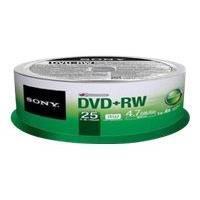 DVD vierge SONY 10DPW47SP - DVD+RW x 10 - 4.7 Go