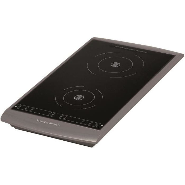 WHITE&BROWN PC493 Plaque de cuisson posable à induction - Gris