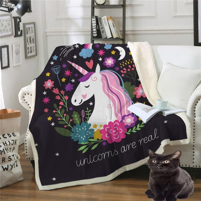 I-Smalls Pour Femme à Manches Longues en Polaire Pyjama Llama Licorne Designs