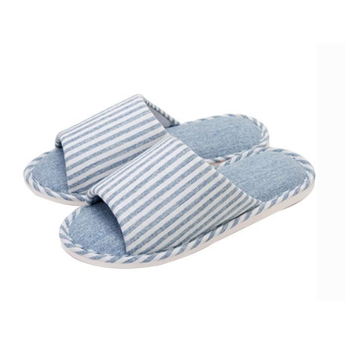 (Made By Cotton) Skidproof Le Style Simple De Pantoufles(Aigue-marine)
