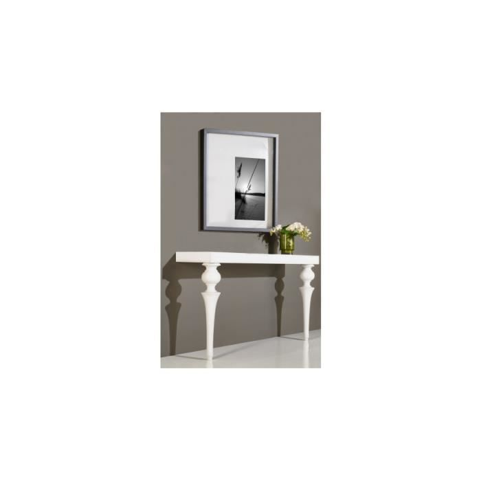 console design laque blanc brillant pieds baroques achat. Black Bedroom Furniture Sets. Home Design Ideas