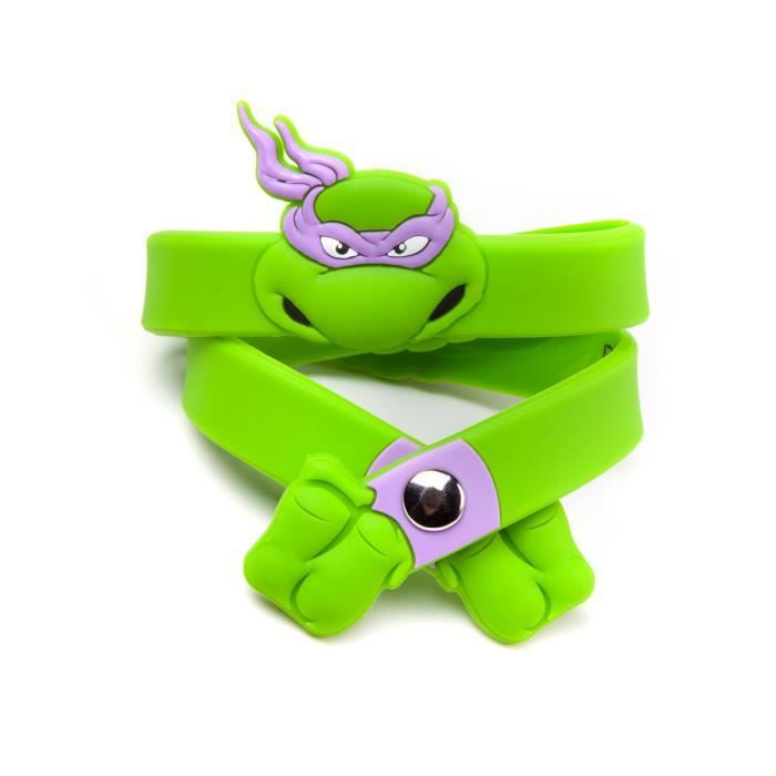 BRACELET - GOURMETTE bracelet caoutchouc Donatello les tortues ninja