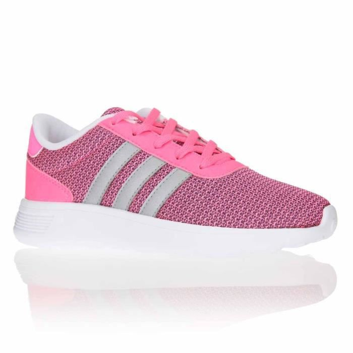 adidas neo baskets lite racer chaussures enfant fille rose. Black Bedroom Furniture Sets. Home Design Ideas