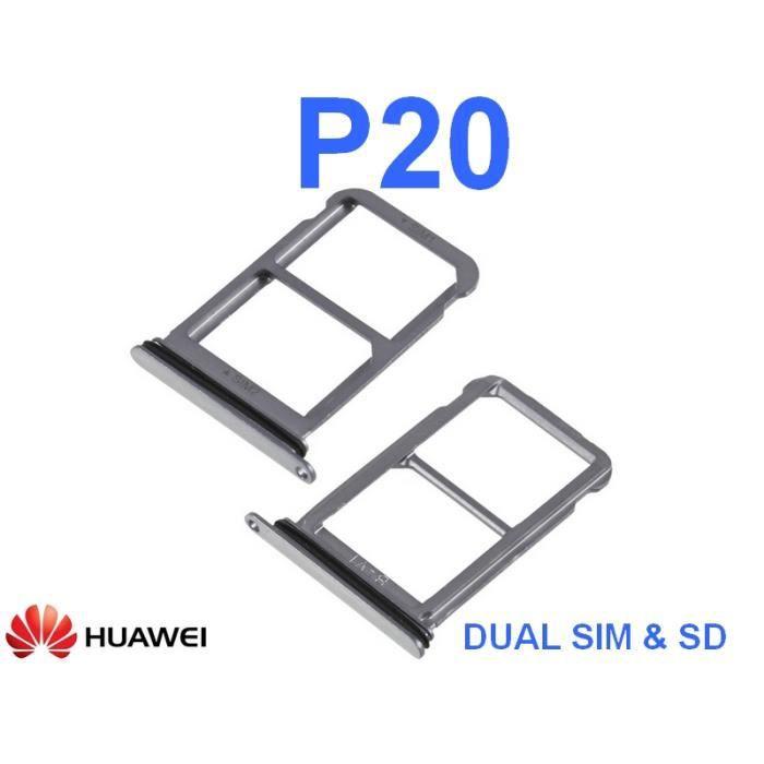 Tiroir Logement Dual Sim Et Micro Sd Pour Huawei P20 Oem Noir Achat Pièce Téléphone Pas Cher Avis Et Meilleur Prix Cdiscount
