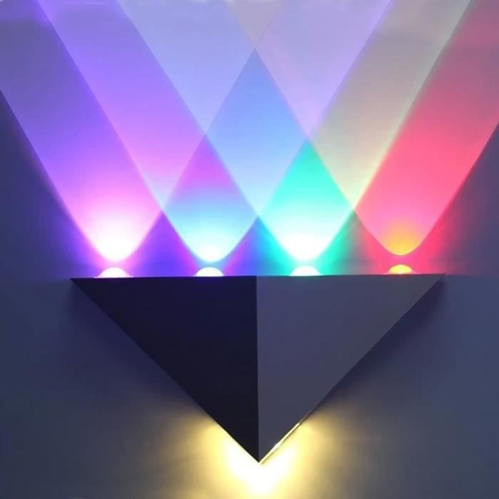 Vococal applique mural triangle interieur led lampe avec for Eclairage led mural interieur