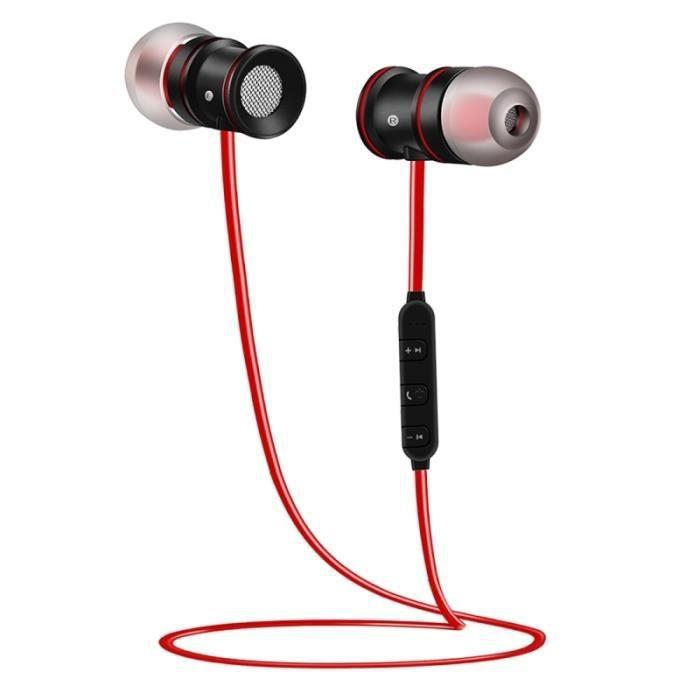 CASQUE - ÉCOUTEURS Ecouteur Bluetooth Pour Iphone Magnétique In-ear S