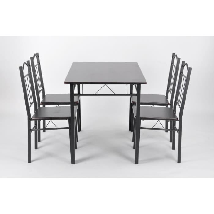 Set table rectangulaire 110x70 4 chaises achat vente for Table cuisine 70 x 110