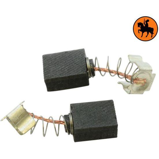 Avec ressort Balais de Charbon Buildalot Specialty ca-07-90092 pour Makita Ponceuse HR2410-6x9x11mm Remplace les pi/èces dorigine 191962-4 /& CB-419 cable et connecteur