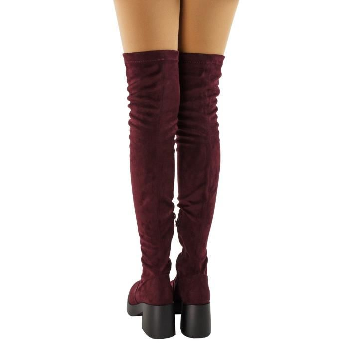 Opus Fitted Platform Chunky Heel Over The Knee Boots YG40R Taille-36 1-2
