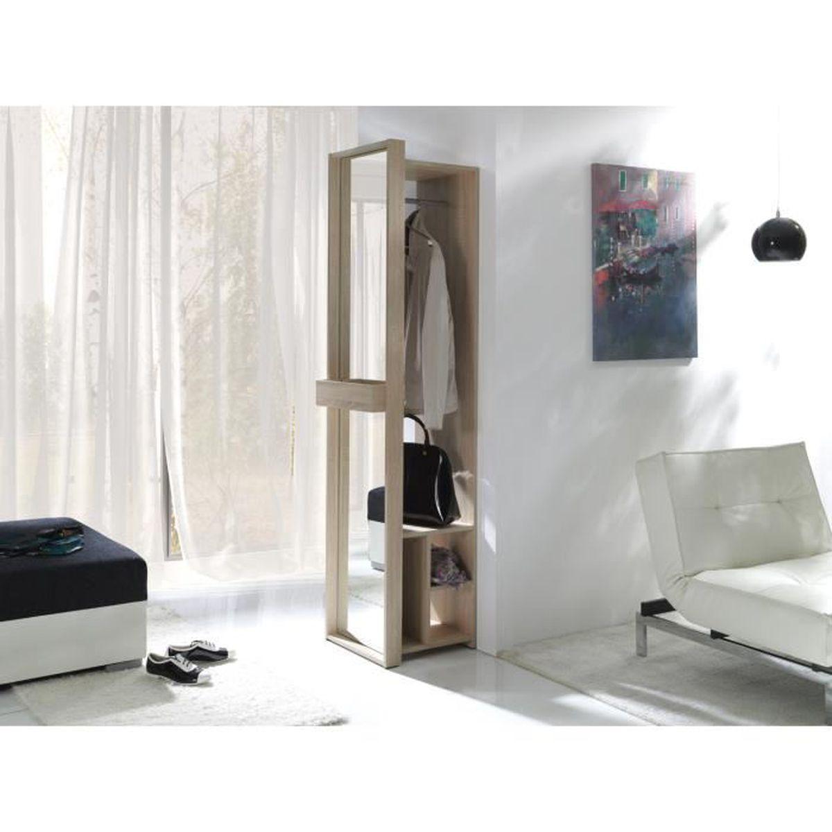 PRICE FACTORY - Meuble d\'entrée, vestiaire ALICE + miroir ...