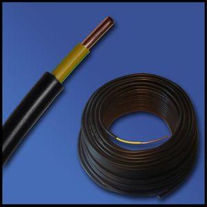 /erdkabel en plastique/ C/âble dalimentation puissant/ /noir /50/m/ /NYY-J 3/x 2,5/mm/²/