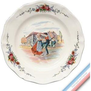 SERVICE COMPLET Collection OBERNAI - Assiette plate - Diam  25 cm