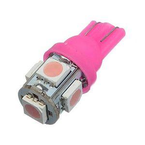 W5W W3W LED 4 SMD 3528 Rose Pink veilleuse lampe light 12V 4x Ampoule T10