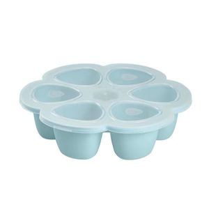 CONSERVATION REPAS BEABA Multiportions silicone 6x90 ml blue