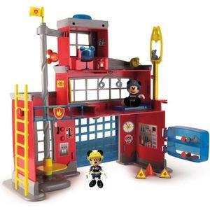 CAMION ENFANT IMC TOYS Caserne de pompiers avec fonction IMT Mic