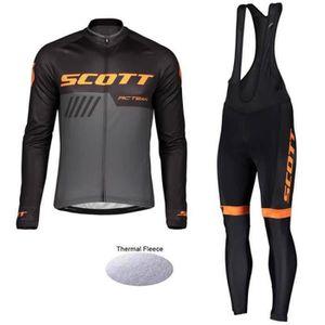 TENUE DE CYCLISME 2019 Scott Maillot Cyclisme Manches Longues Hiver