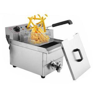 FRITEUSE ELECTRIQUE Friteuse Électrique 10L 3000W (Thermostat Max.200°