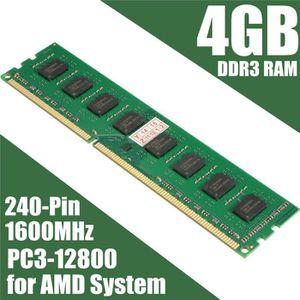 MÉMOIRE RAM 4 Go AMD Memoire RAM DDR3 PC3-12800 1600 MHz Deskt