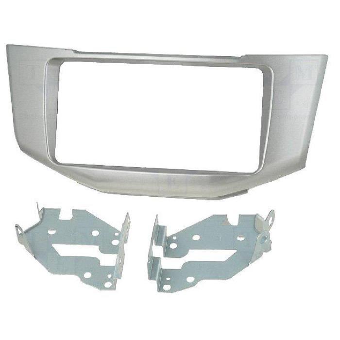 Facade autoradio 2DIN Lexus RX330/ RX350/ RX400H - Argent - ADNAuto