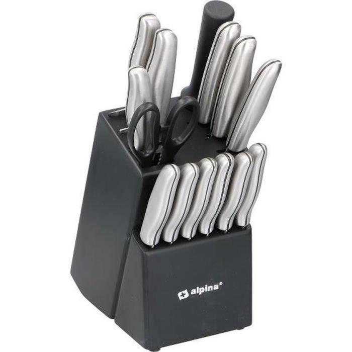 Alpina couteau en bloc de 15 pièces