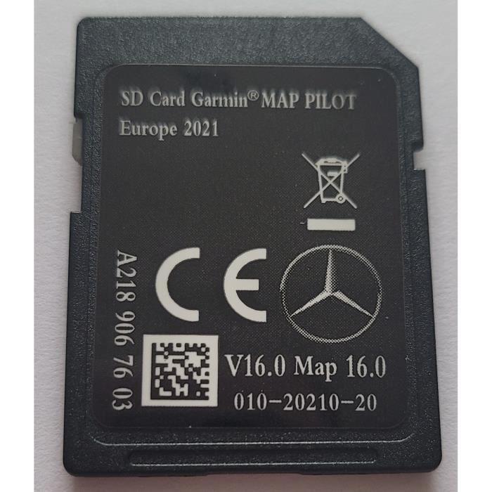 Carte SD GPS MERCEDES GARMIN MAP PILOT Europe 2021 - STAR2 - v16 - A2139067603