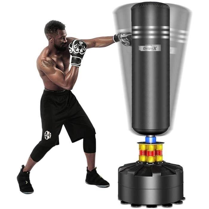 Sac de Frappe sur Pied Adulte Sac de Box Lourd Stable Kickboxing Bon Cadeau d'adulte ou d'adolescent