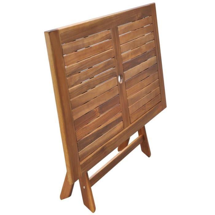 Table de jardin 120x70x75 cm Bois d'acacia massif -Brun -MOO
