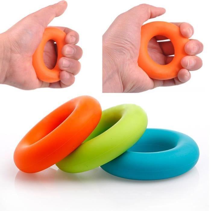 Merci support élastique au poignet Bleu 7cm Diamètre Force Main Grip Finger Power Training Anneau En Caoutchouc Exerciseur Bleu