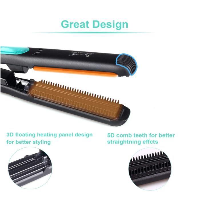 450F Flat iron lisseur vapeur lisseur cheveux 5D du chauffage des dents avec de la vapeur technology