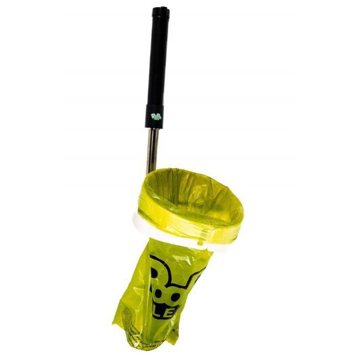 PooPooLess WC portable avec canne télescopique et sac pour recueillir les excréments de votre chien Livré avec 100 sacs super rés