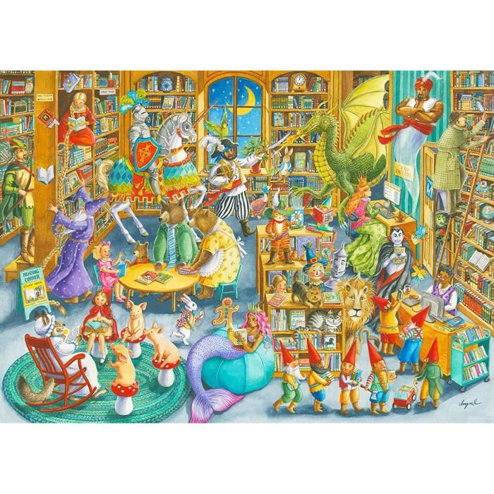 Ravensburger- Midnight in The Library Puzzle 1000 pi&egraveces pour Adultes et Enfants &agrave partir de 12 Ans, 16455259