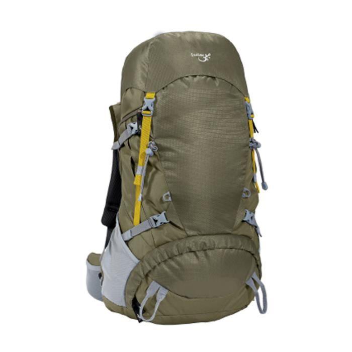 Sac à dos de moyenne randonnée Taroko 55 L- sac à dos 40 à 55 l- Freetime vert