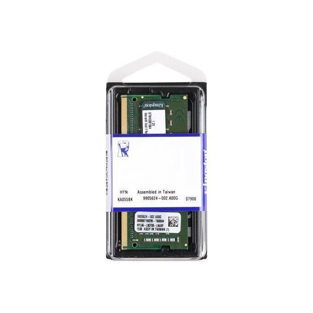 Kingston Mémoire Pc Ddr4 4 Go So Dimm 260 broches 2400 Mhz / Pc4 19200 Cl17 1.2 V Mémoire sans tampon Non Ecc