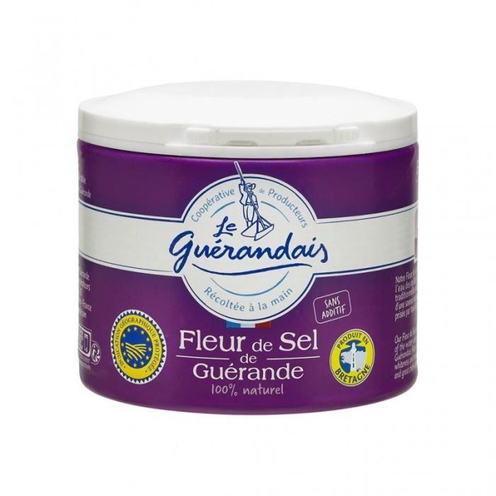 Le Guérandais Fleur de Sel de Guérande 100% naturel 125g (lot de 3)