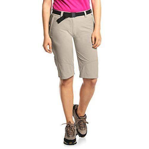 Maier Sports EL. Lawa Bermuda pour Femme Marron Gris Beige Taille 38 - 230002_743_38