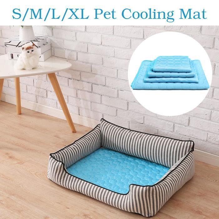 TEMPSA Portable Été Tapis Rafraîchissant Tissu Chien Chat Cool Confort 102X70CM